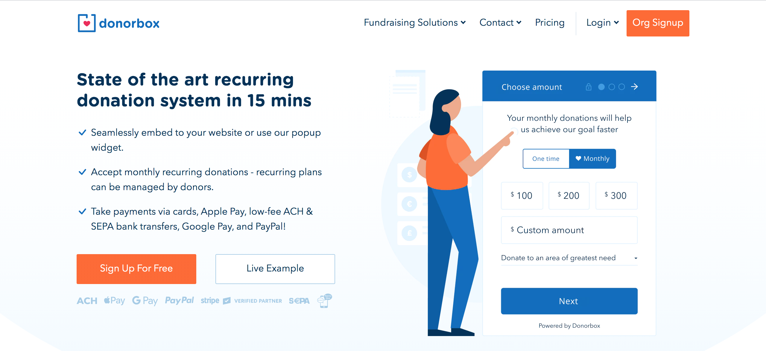Donorbox Fundraising Software